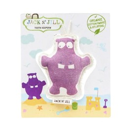 Jack&Jill Jack & Jill - Peluche pour les Dents/Tooth Keeper, Hippopotame/Hippo