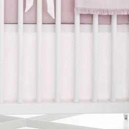 Bouton Jaune Bouton Jaune - Jupe de Lit Classique, Toi Moi Coco/Toi Moi Coco Straight Bedskirt, Rose à Pois/Pink with Dots