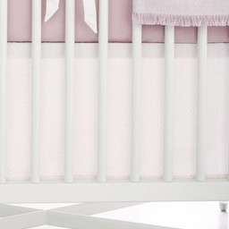 Bouton Jaune Bouton Jaune - Toi Moi Coco Straight Bedskirt, Pink with Dots
