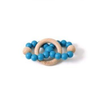 Bulle Bijouterie Bulle Bijouterie -  Hochet Infini/Infinity Wood Rattle, Bleu Océan/Ocean Blue