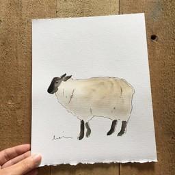 Léolia Art et Illustrations Léolia - Aquarelle/Watercolor, Mouton/Sheep