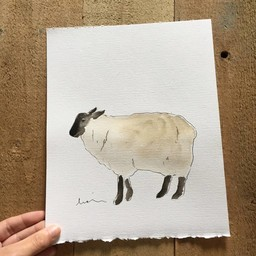 Léolia Art et Illustrations Léolia Art et Illustrations - Aquarelle/Watercolor, Mouton/Sheep