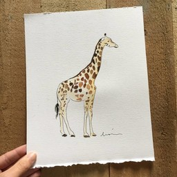 Léolia Art et Illustrations Léolia Art et Illustrations - Aquarelle/Watercolor, Girafe/Giraffe