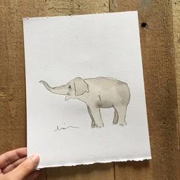 Léolia Art et Illustrations Léolia - Aquarelle/Watercolor, Éléphant/Elephant