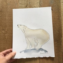 Léolia Art et Illustrations Léolia - Aquarelle/Watercolor, Ours Polaire/Polar Bear