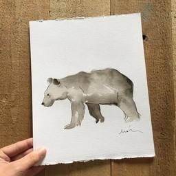 Léolia Art et Illustrations Léolia - Aquarelle/Watercolor, Ours Brun/Brown Bear