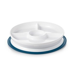 OXO OXO - Assiette Compartimentée à Ventouse/Stick & Stay Divided Plate, Marine/Navy