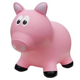 Farm Hoppers Farm Hoppers- Ballon Sauteur/Jumping Animals, Cochon Rose/Pink Pig