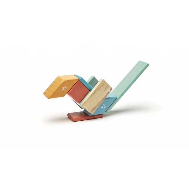Tegu Tegu - Blocs de Bois Magnétiques 14 pièces/14 Pieces Magnetic Wooden Blocs, Sunset