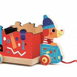 Djeco Djeco - Jouet à Tirer/Pull Toy, Jo Truck