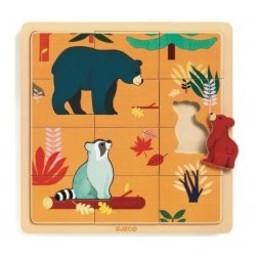 Djeco Djeco - Casse-Tête de Bois/Wooden Puzzle, Canada