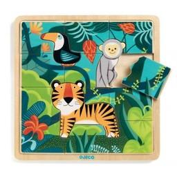 Djeco Djeco - Casse-Tête de Bois/Wooden Puzzle, Jungle