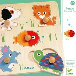 Djeco Djeco - Casse-Tête en Bois/Wooden Puzzle, Bulle & Co