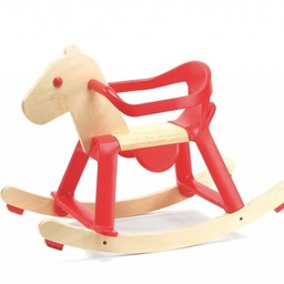 Djeco Djeco - Cheval à Bascule/Rocking Horse, Red Rock'it