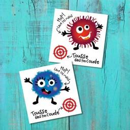 Pico Tatouages Temporaires Pico Tatoo - Tatouages Temporaires/Temporary Tattoos, La Récréation L'attaque des Microbes