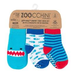 Zoocchini Zoocchini - Paquet de 3 Paires de Chaussettes/Pack of 3 Pairs of Socks, Requin/Shark