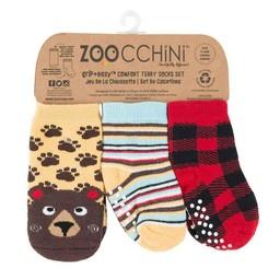 Zoocchini Zoocchini - Paquet de 3 Paires de Chaussettes/Pack of 3 Pairs of Socks, Ours/Bear