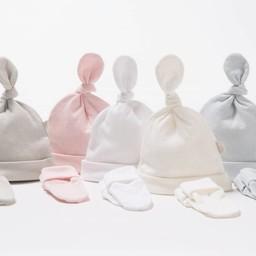 Bouton Jaune Ensemble Chapeau et Mitaines en Coton Organique de Bouton Jaune/Bouton Jaune Organic Cotton Hat and Mitt, Rose/Pink