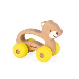Janod Janod - Jouet à Pousser /Push Toy, Ours/Bear