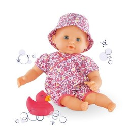 Corolle Corolle - Poupée Mon Premier Bébé Bain/My First Bath Baby Doll, Mille et Une Fleurs/Floral Bloom