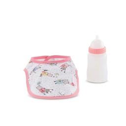 Corolle Corolle - Bavoir et Biberon Magique pour Poupon/Bib and Magic Milk Bottle for Baby Doll