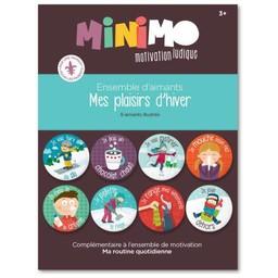 Minimo Minimo - Ensemble D'aimants Mes Plaisirs d'Hiver/Magnet Set My Winter Pleasures