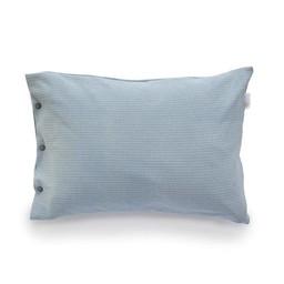 Bouton Jaune Bouton Jaune - Cache-Oreiller 12x16 Pouces en Coton Organique/12x16 Inches Organic Cotton Pillow Cover, Bleu Vintage/Vintage Blue