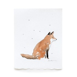 Léolia Art et Illustrations Léolia - Aquarelle/Watercolor, Renard dans la Neige/Fox in the Snow