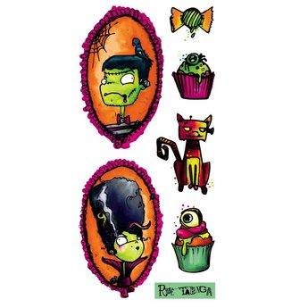 Pico Tatouages Temporaires Pico Tatoo - Tatouages Temporaires/Temporary Tattoos, Youppi c'est l'Halloween Signé Rue Tabaga