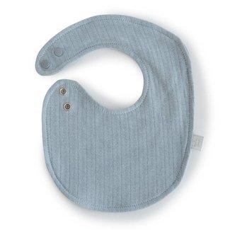 Bouton Jaune Bouton Jaune - Small Organic Cotton Bib, Vintage Blue, One Size