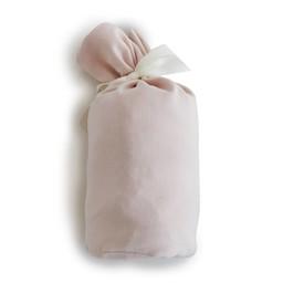 Bouton Jaune Bouton Jaune - Drap Contour en Coton Organique/Organic Cotton Fitted Sheet, Rose Vintage/Vintage Pink