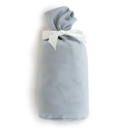 Bouton Jaune Bouton Jaune - Drap Contour en Coton Organique/Organic Cotton Fitted Sheet, Bleu Vintage/Vintage Blue