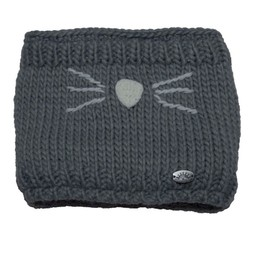 Calikids Calikids - Cache-cou Chat en Tricot, Gris