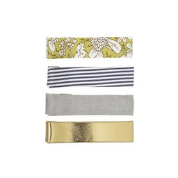 Mimi & Lula Mimi & Lula - Pack of Milly Hair Clips, Gold and Stripes