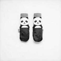 MimiTENS MimiTens - Mitaines Doublées, Panda Noir