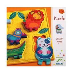 Djeco Djeco - Casse-Tête en Bois/Wooden Puzzle, Junga