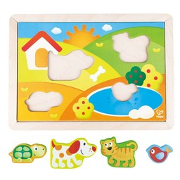 Hape Hape - 3-in-1 Puzzle Puppy and his Friends