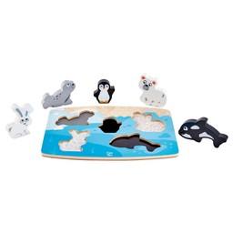 Hape Hape - Polar Animal Tactile Puzzle