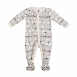 Petit Lem Petit Lem - Knitted Pyjama, Light Gray