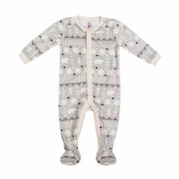 Petit Lem Petit Lem - Pyjama en Tricot, Gris Pâle