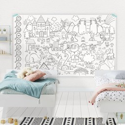 Rue Tabaga Rue Tabaga - Giant Coloring Poster Enchanted Forest