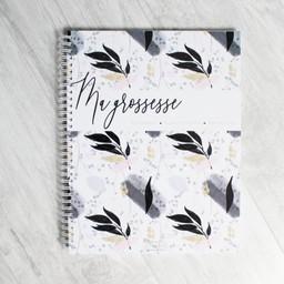 Moments ancrés Moments Ancrés - Pregnancy Journal, Black Leaves