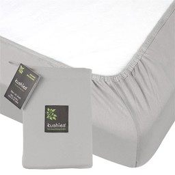 Kushies Kushies -  Organic Jersey Fitted Crib Sheet, Grey