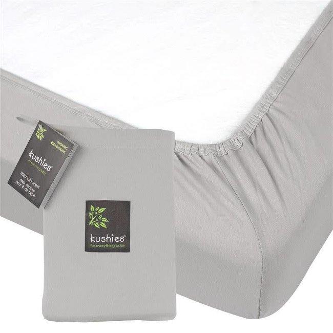 Kushies Kushies -  Organic Jersey Fitted Crib Sheet, Grey
