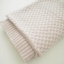 Snuggle Hunny Kids Snuggle Hunny Kids - Diamond Knit Blanket, Cream