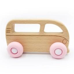 Pois et Moi Pois et Moi - Voiturette Campeur/Toys Car Westfalia, Rose Quartz/Quartz Pink