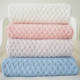 Snuggle Hunny Kids Snuggle Hunny Kids - Diamond Knit Blanket, Warm Grey