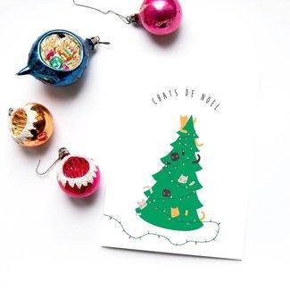 Émilie Hébert - Greeting Card, Chats de Noël