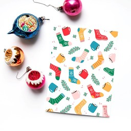 Émilie Hébert Émilie Hébert - Greeting Card, Christmas Socks