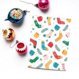 Émilie Hébert - Greeting Card, Christmas Socks
